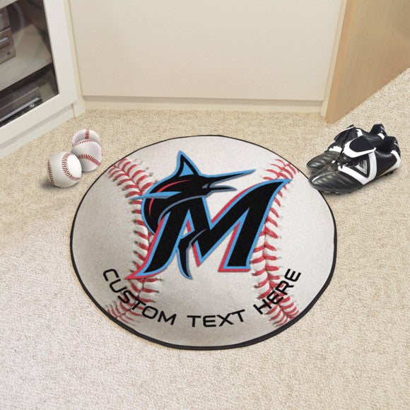 Miami Marlins Personalized Baseball Mat