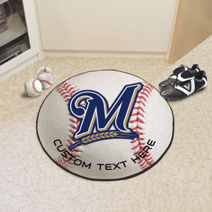 Milwaukee Brewers Personalized Baseball Mat