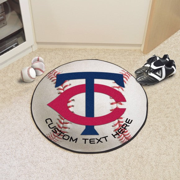 Minnesota Twins Personalized Baseball Mat