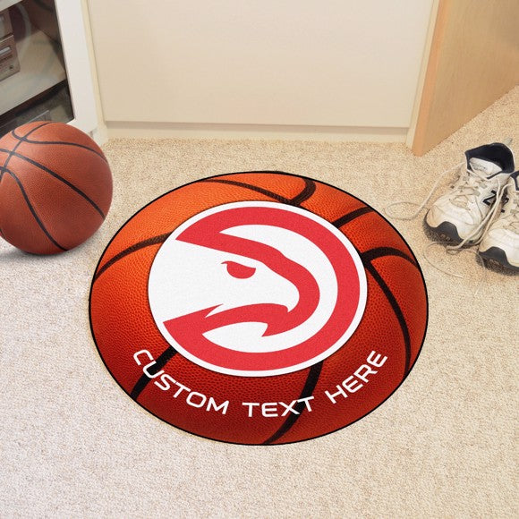 Atlanta Hawks Personalized Basketball Mat