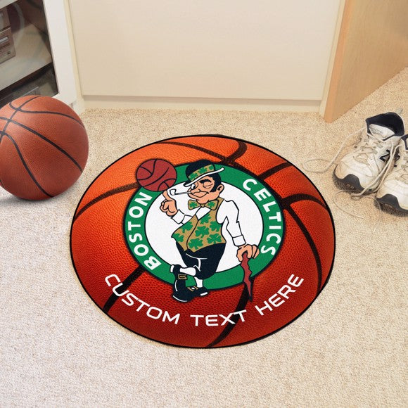 Boston Celtics Personalized Basketball Mat
