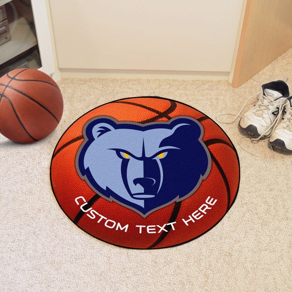 Memphis Grizzlies Personalized Basketball Mat