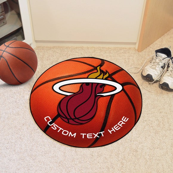Miami Heat Personalized Basketball Mat