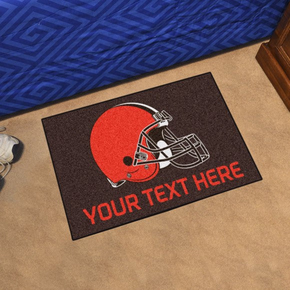 Cleveland Browns Personalized Starter Mat