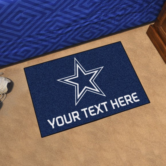 Dallas Cowboys Personalized Starter Mat