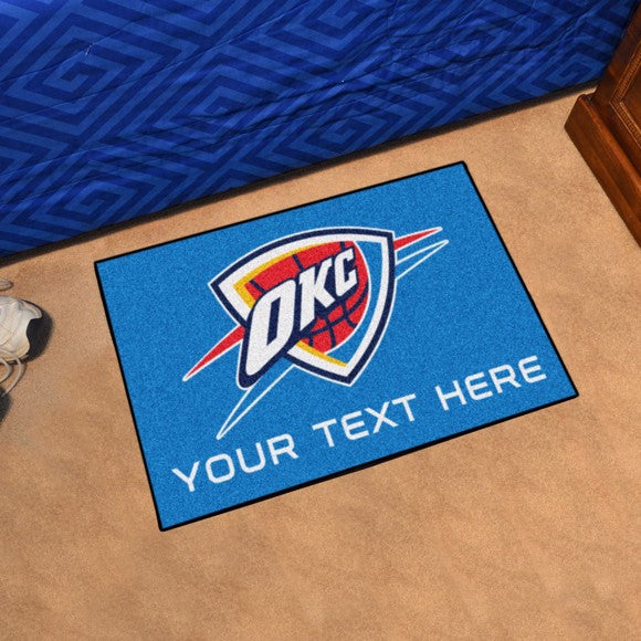 Oklahoma City Thunder Personalized Starter Mat