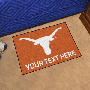 Personalized University of Texas Starter Mat