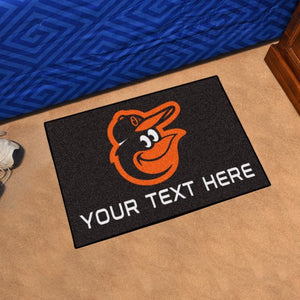 Baltimore Orioles Personalized Starter Mat