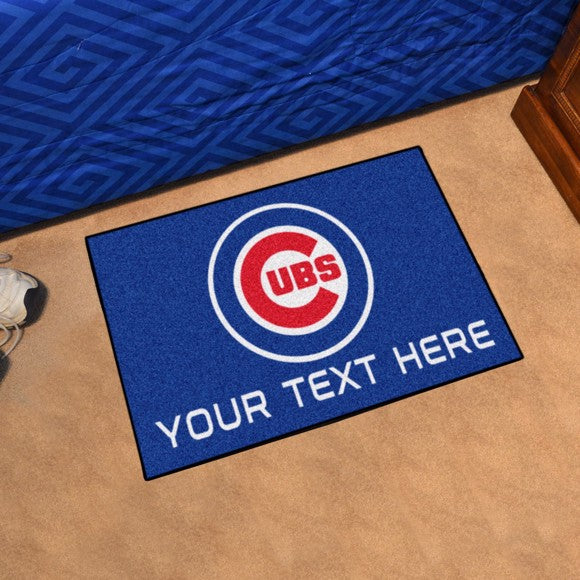 Chicago Cubs Personalized Starter Mat