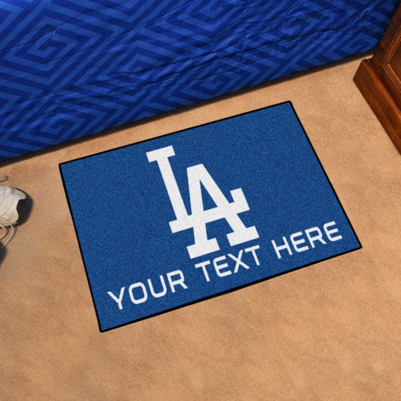 Los Angeles Dodgers Personalized Starter Mat