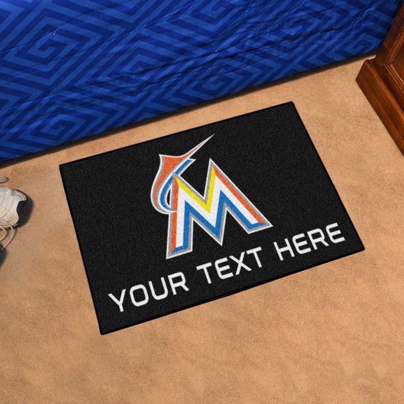 Miami Marlins Personalized Starter Mat