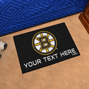 Boston Bruins Personalized Starter Mat