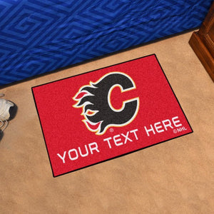Calgary Flames Personalized Starter Mat