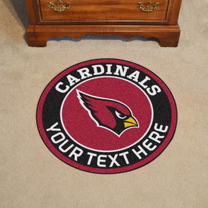 "Arizona Cardinals Personalized Roundel Mat 27"" Diameter"