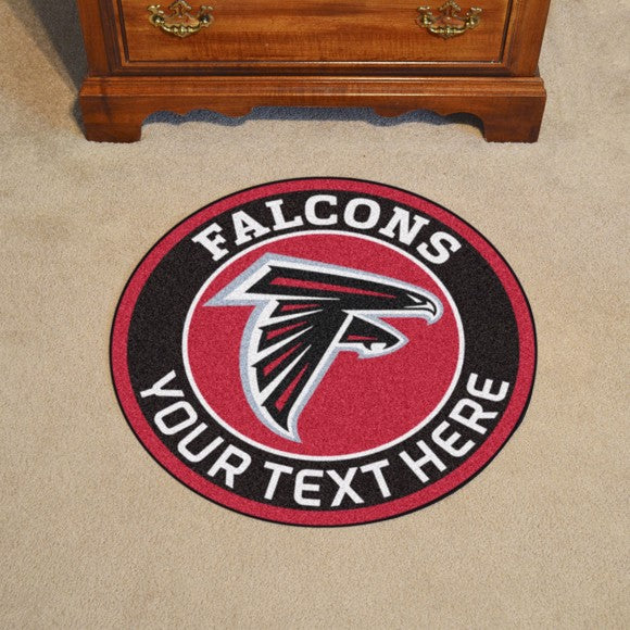 Atlanta Falcons Personalized Roundel Mat 27