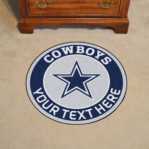 NFL - Dallas Cowboys Personalized Roundel Mat