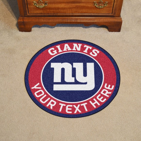 New York Giants Personalized Roundel Mat