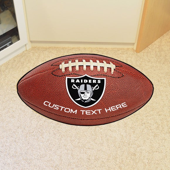 Oakland Raiders Personalized Football Mat