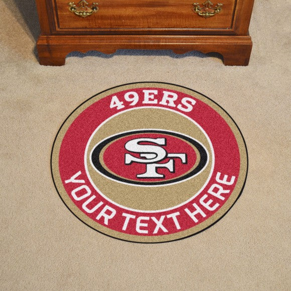 San Francisco 49ers Personalized Roundel Mat