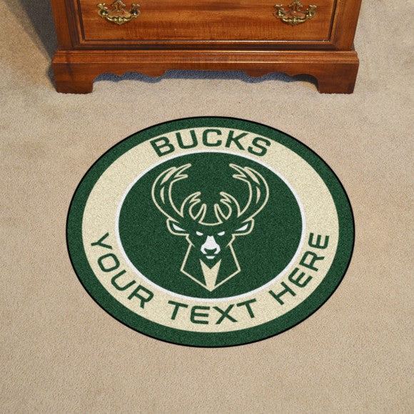 Milwaukee Bucks Personalized Roundel Mat