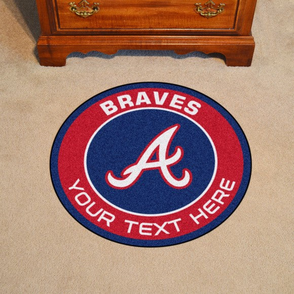 Atlanta Braves Personalized Roundel Mat 27