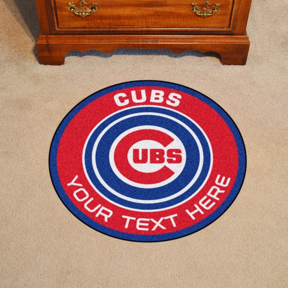Chicago Cubs Personalized Roundel Mat