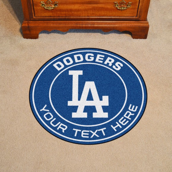 Los Angeles Dodgers Personalized Roundel Mat