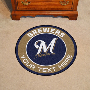 Milwaukee Brewers Personalized Roundel Mat