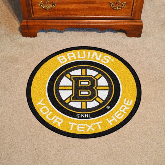 Boston Bruins Personalized Roundel Mat