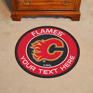 Calgary Flames Personalized Roundel Mat