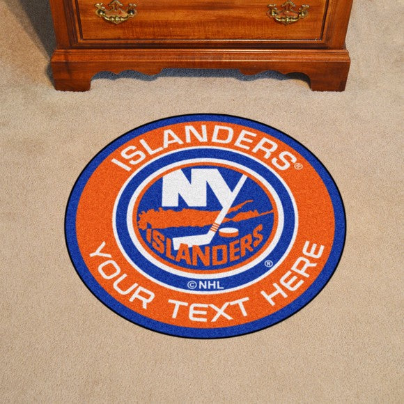 New York Islanders Personalized Roundel Mat