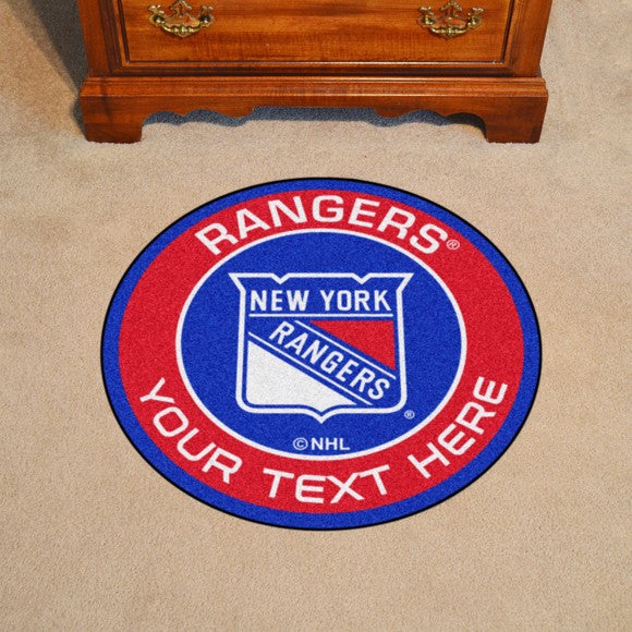 New York Rangers Personalized Roundel Mat