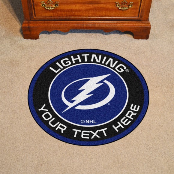 Tampa Bay Lightning Personalized Roundel Mat