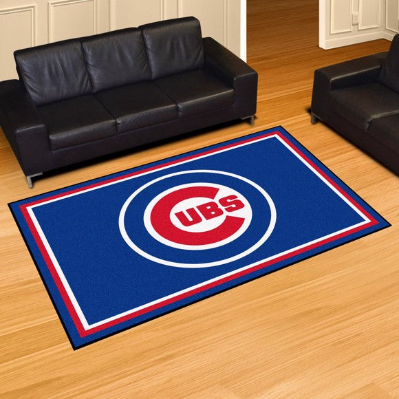 "MLB - Chicago Cubs 5'x8' Plush Rug 59.5"" x 88"""