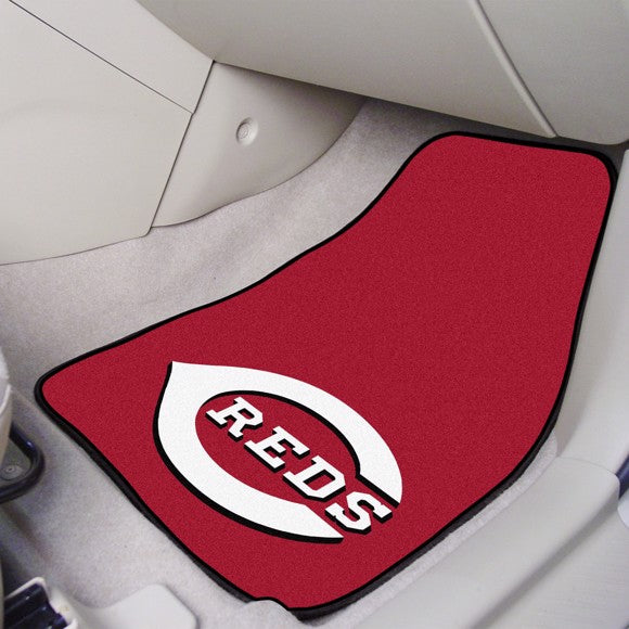"MLB - Cincinnati Reds Carpet Car Mat Set 17"" x 27"""