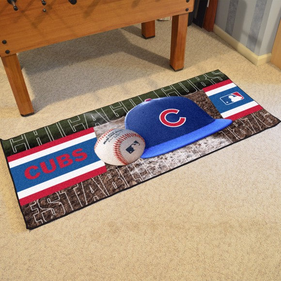 "MLB - Chicago Cubs Baseball Runner 30"" x 72"""