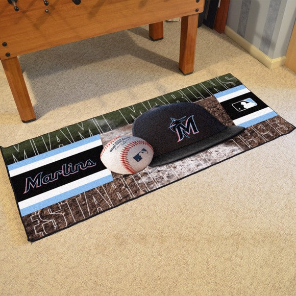 "MLB - Miami Marlins Baseball Runner 30"" x 72"""