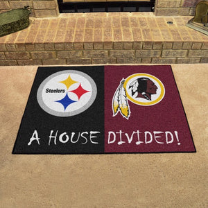 "NFL House Divided - Steelers / Redskins 33.75"" x 42.5"""