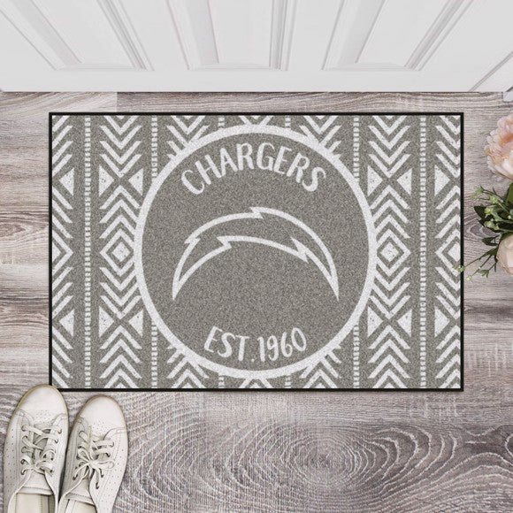 "NFL - Los Angeles Chargers Southern Style Starter Mat 19"" x 30"""