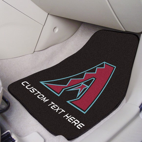 MLB - Arizona Diamondbacks Personalized Carpet Car Mat Set 17