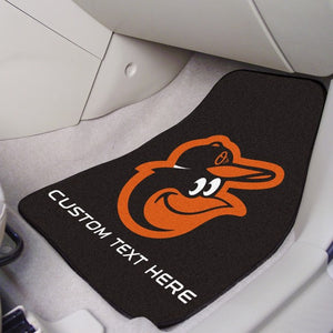 "MLB - Baltimore Orioles Personalized Carpet Car Mat Set 17"" x 27"""