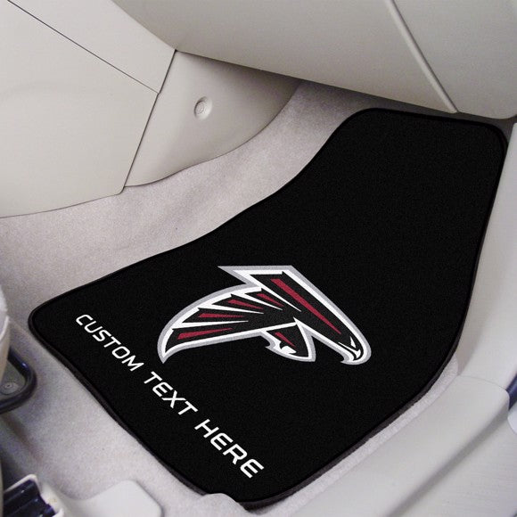 NFL - Atlanta Falcons Personalized Carpet Car Mat Set 17