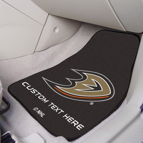 NHL - Anaheim Ducks Personalized Carpet Car Mat Set 17
