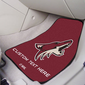 "NHL - Arizona Coyotes Personalized Carpet Car Mat Set 17"" x 27"""