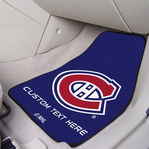 "NHL - Montreal Canadiens Personalized Carpet Car Mat Set 17"" x 27"""