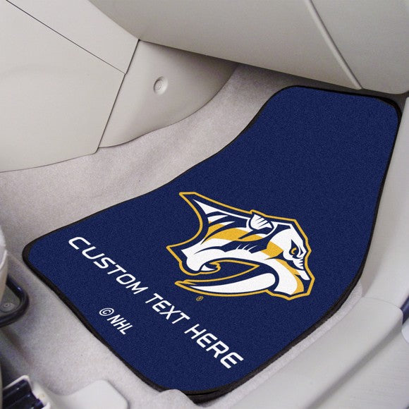 "NHL - Nashville Predators Personalized Carpet Car Mat Set 17"" x 27"""