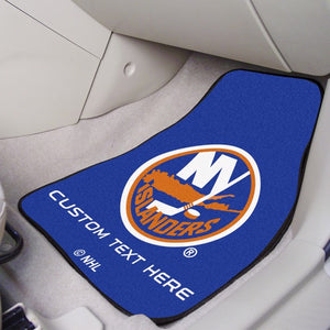 "NHL - New York Islanders Personalized Carpet Car Mat Set 17"" x 27"""