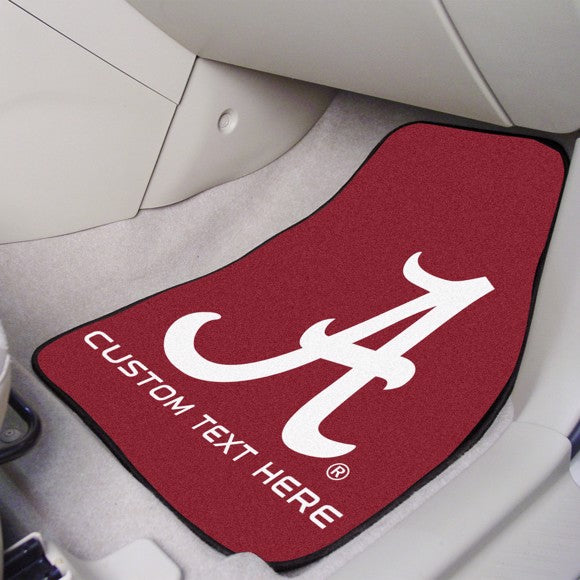 "Alabama Personalized Carpet Car Mat Set 17"" x 27"""