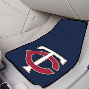 "MLB - Minnesota Twins Carpet Car Mat Set 17"" x 27"""