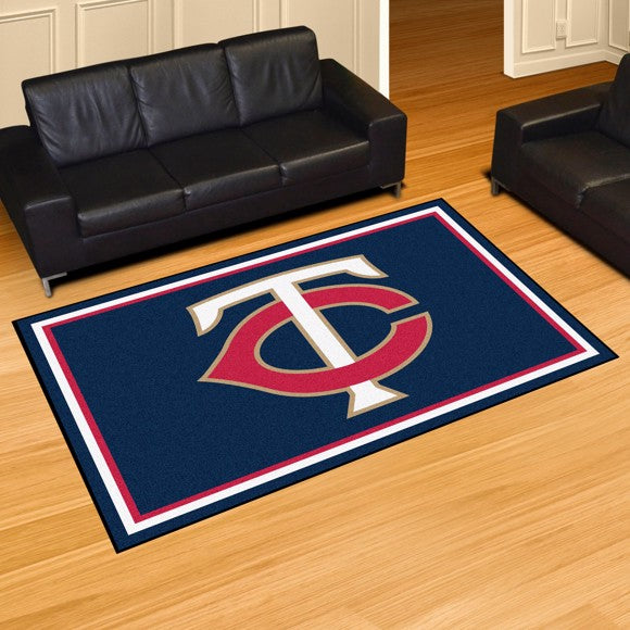"MLB - Minnesota Twins 5'x8' Plush Rug 59.5"" x 88"""